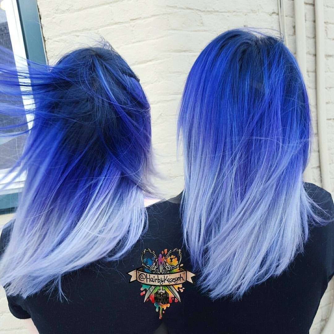 Beserk On Instagram Hairbykaseyoh Never Fails To Impress Us Check Out This Gorgeous Blue Ombre Hair Using Arc Hair Styles Blue Ombre Hair Vivid Hair Color