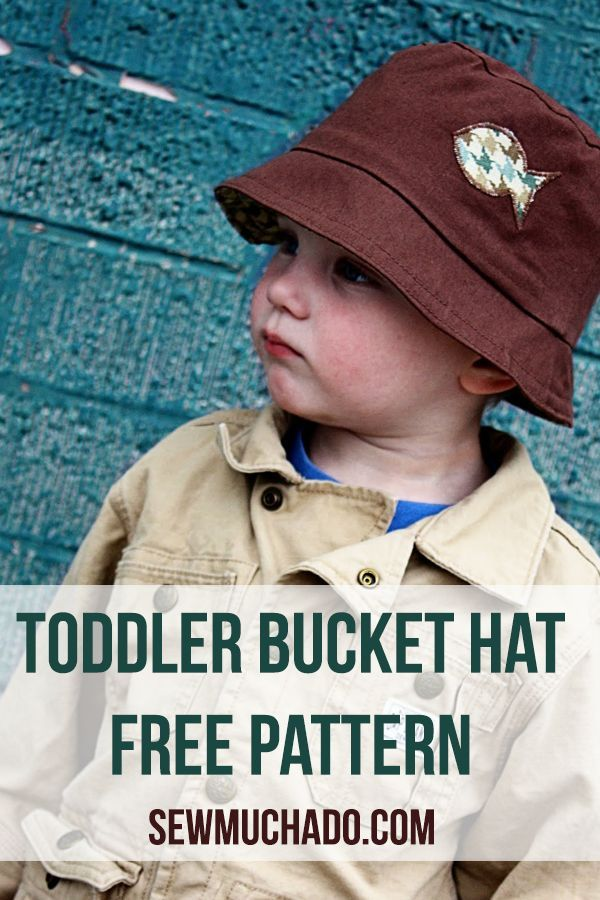 Toddler Bucket Hat Free Pattern | Schnittmuster mädchen, Baby nähen ...