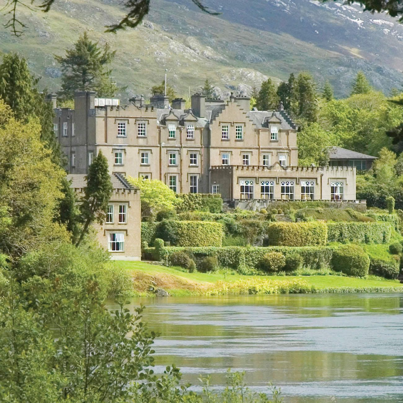 Ballynahinch Castle On The Owenmore River Co Galway Ireland