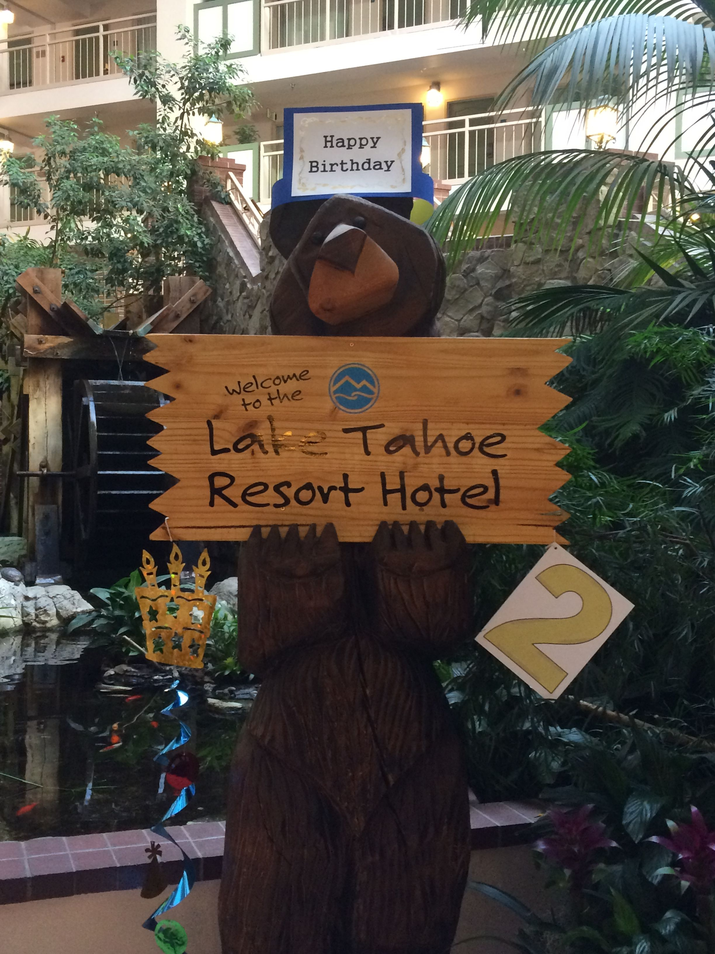 happy 2nd birthday to us as the lake tahoe resort hotel! | our