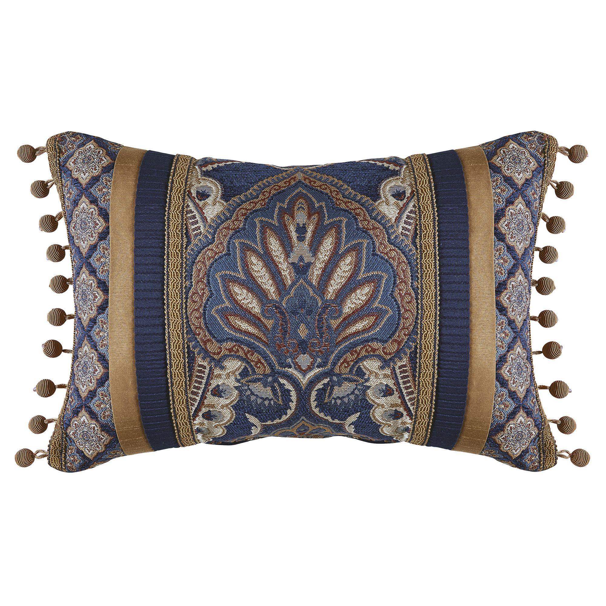 Aurelio Boudoir Pillow Blue Pillows Decorative Throw Pillows Boudoir Pillow