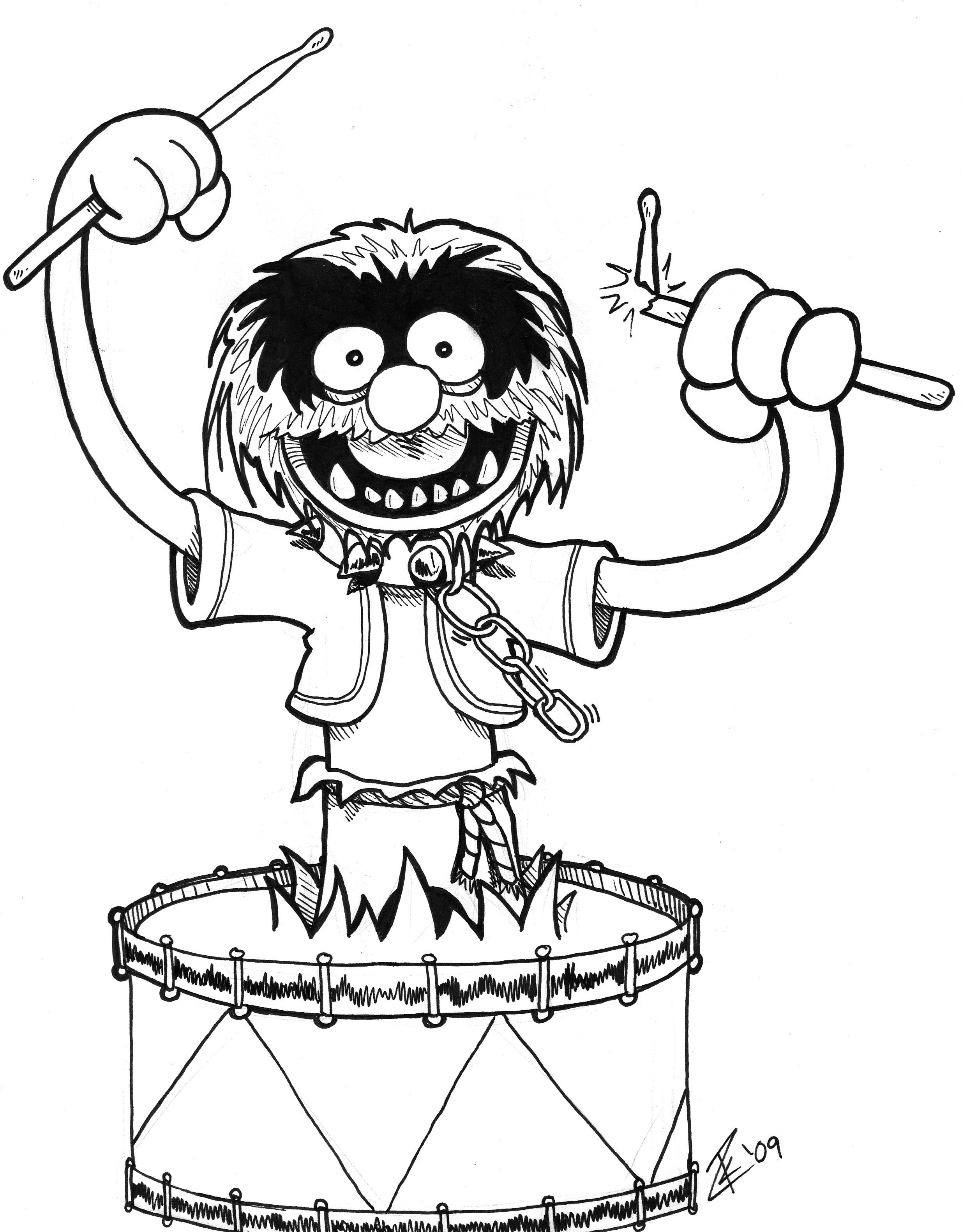 drum drawings | Animal from the Muppets. Drawn during Heroes Con \'09 ...