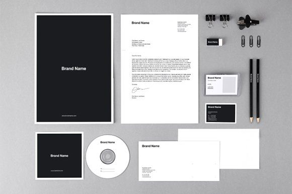 Branding identity MockUps + Template by Vitalliy on @creativemarket
