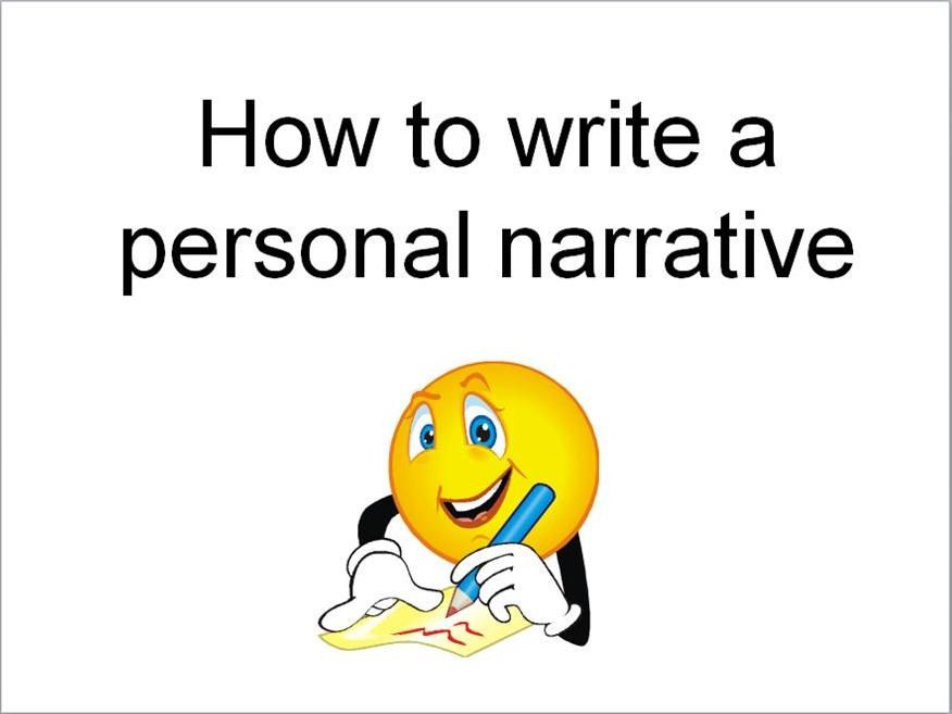 exposition in personal narrative