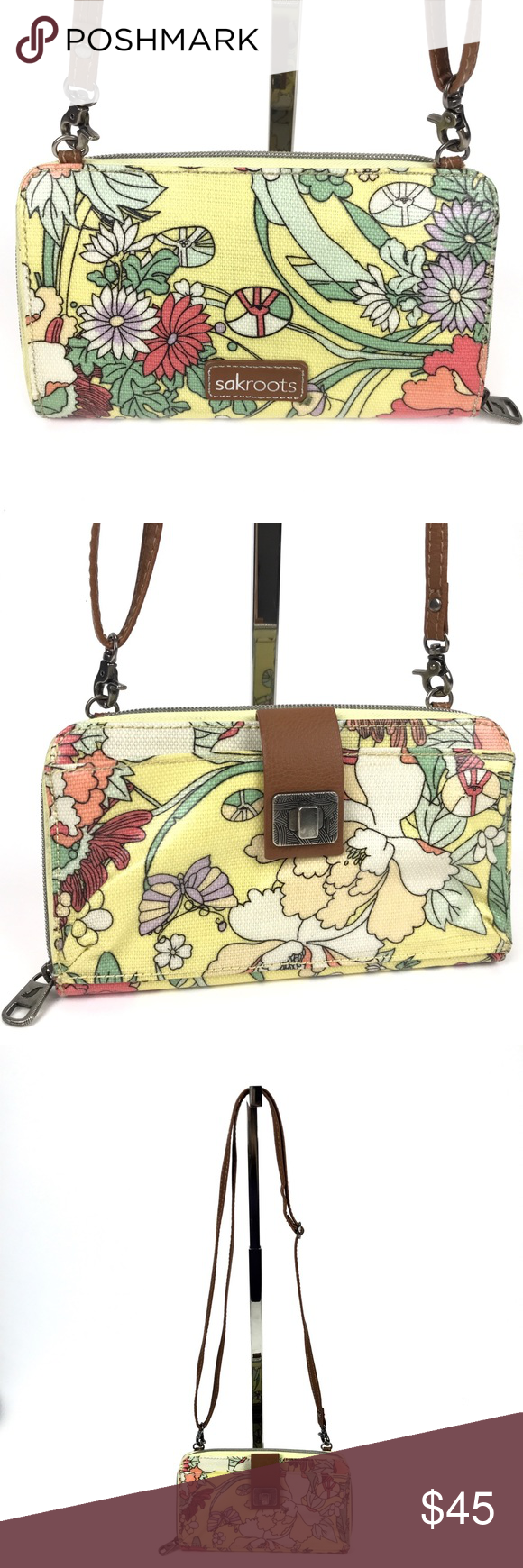 Sakroots Crossbody Clutch Sunlight Flower Power