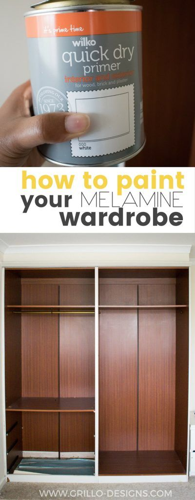 Learn How To Paint Melamine Wood   And Turn Any Outdated Piece Of Furniture  From Drab