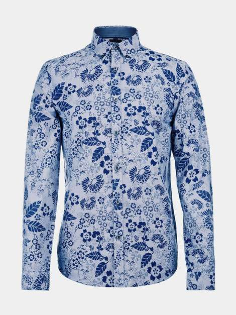b6337d08dd5957 Long Sleeve Blue Floral Shirt | Personal Stylist & Fashion Advising ...