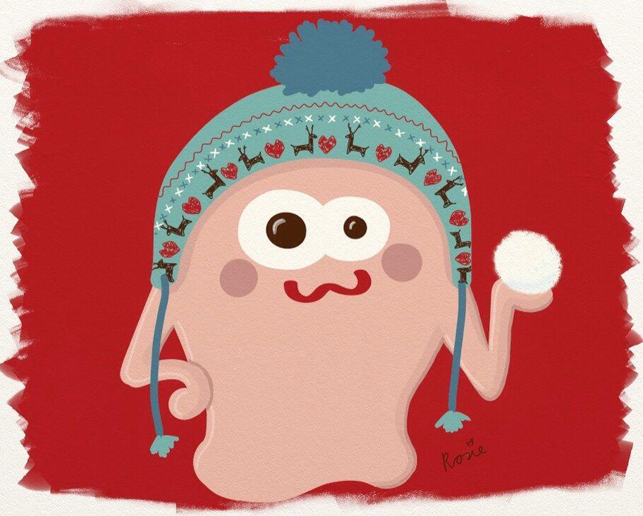 This monster is up to no good!  http://rosanakooymans.tumblr.com/post/70581689949/this-monster-is-up-to-no-good  #RosanaKooymans #art #draw #drawing #illustration #monster #winter #Christmas #cute #nursery #print #fairisle #RosanasMonsters #Nordic #NordicHat
