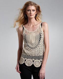 Fada do Crochet: REGATA NUDE - LINDA DE VIVER