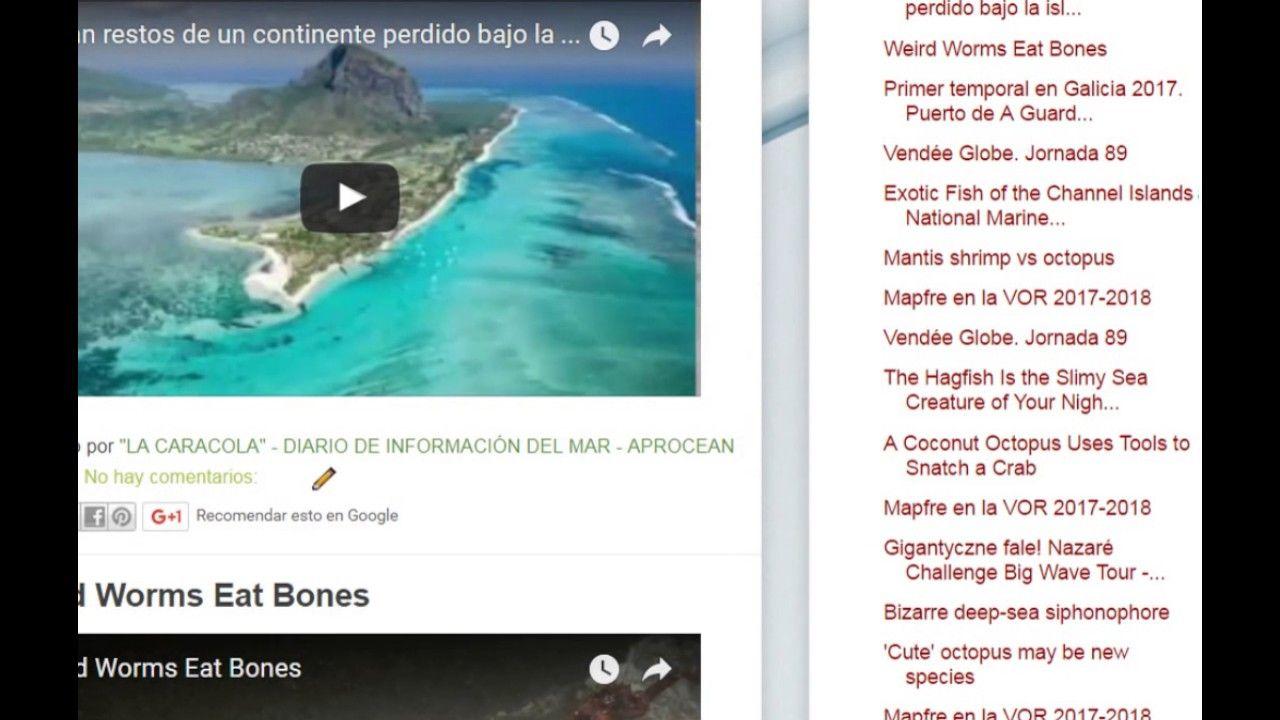 """06/02/17 10:15hs  Boletín """"La Caracola""""  D.I.M. - Diario de Información del Mar  Aprocean Blog http://aprocean.blogspot.com.es"""