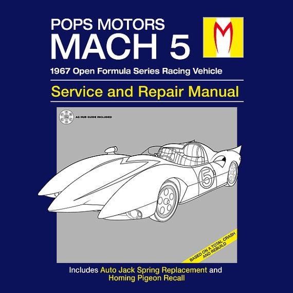 Mach 5 Service And Repair Manual T-shirt Anime By