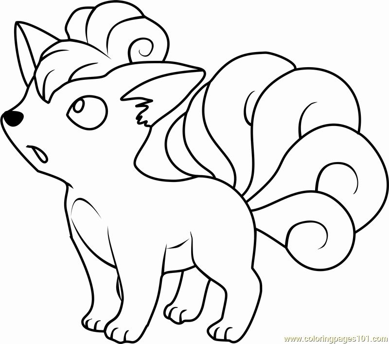 Pokemon Coloring Pages Ninetales Designs Collections