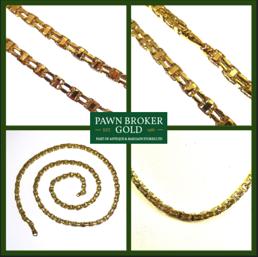 b76f8b266cbbb This is a magnificent New 9ct Gold Cage Chain. These 9ct Gold Chains ...