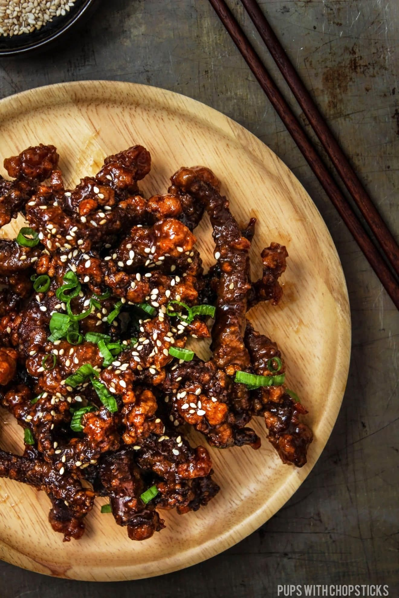 Super crispy beef recipe tossed with a sweet and sticky sauce  better than take out