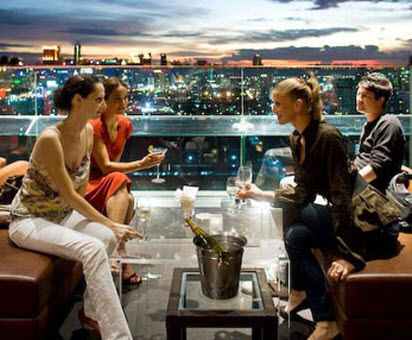 Long Table Bar And Restaurant Offers A Stunning View Over Bangkok From The 25th Floor