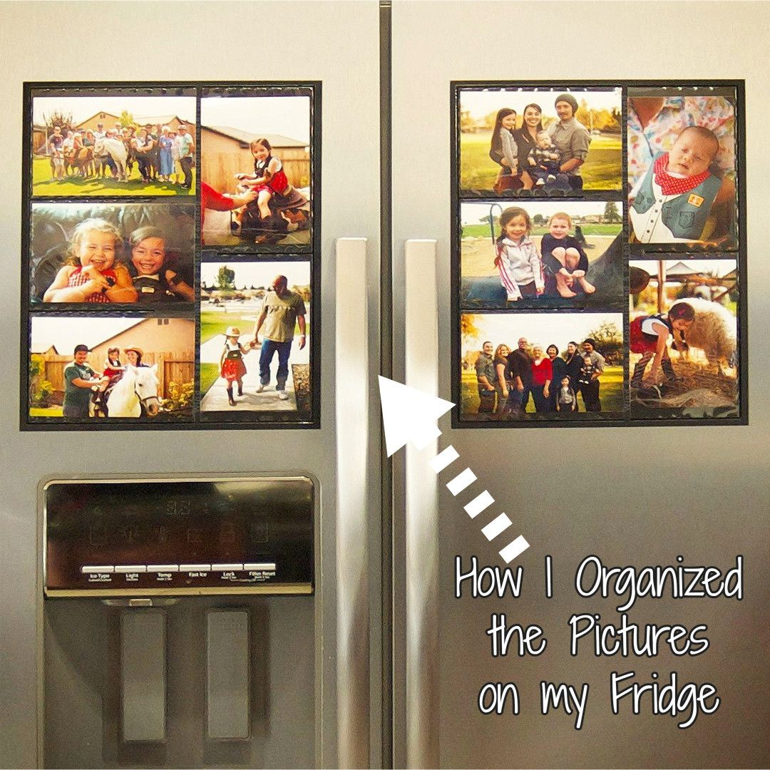 DIY} How To Organize Pictures on Your Refrigerator | Fridge Photo ...