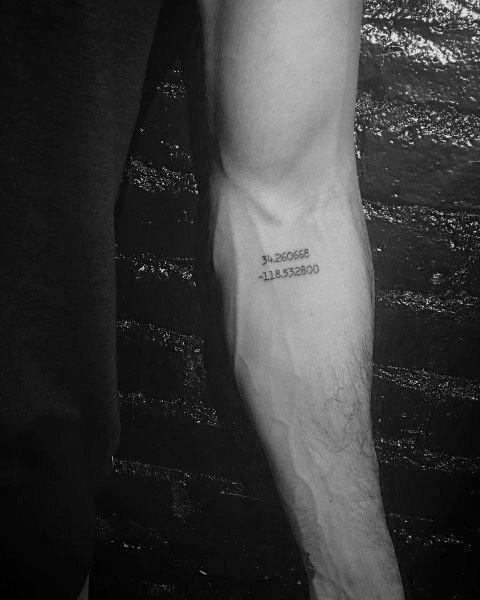 50 Koordinaten Tattoo-Ideen Für Männer – Geographische Wahrzeichen Designs — Deutsch Style #tattoocoordinates