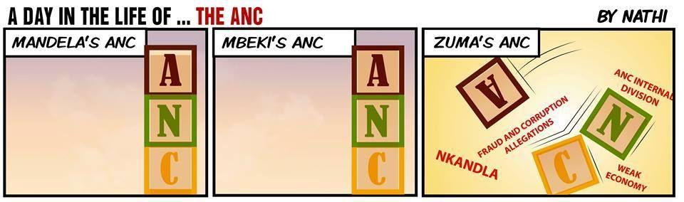 Nathi depicts the ANC in the days of Mandela, Mbeki and Zuma...