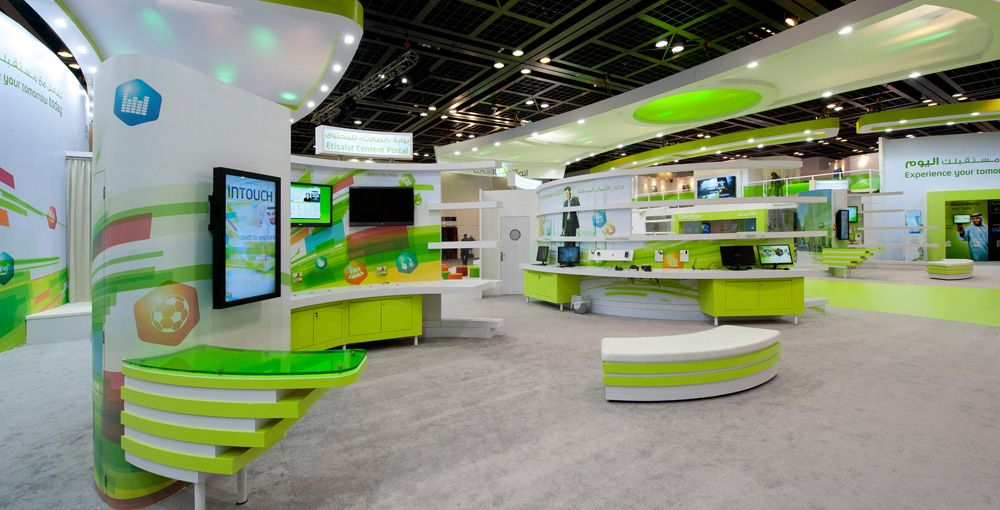Exhibition Stand Design Agency : Etisalat gitex dubai exhibition pinterest