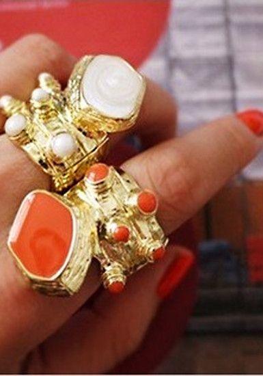 Octopus Golden Ring - Orange