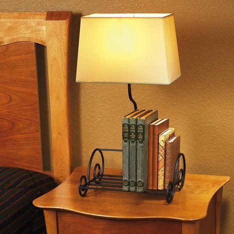 Space Saving Bookshelf Lamp