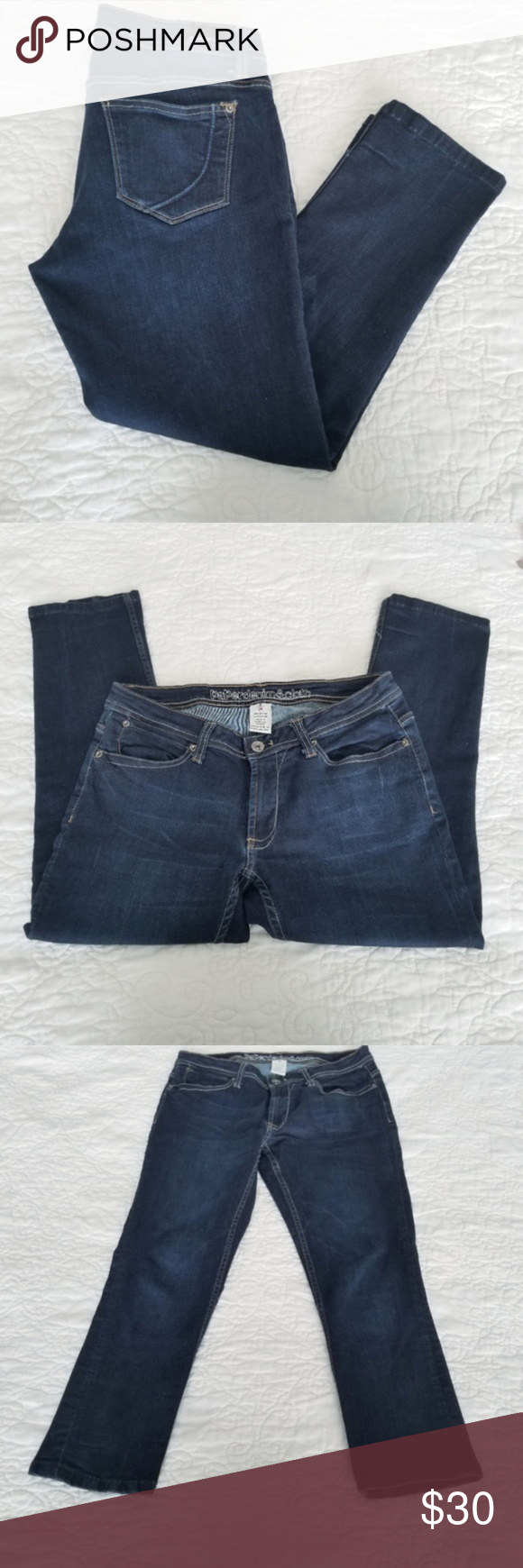 Anthropologie | Paper Denim & Cloth Ankle Jeans -Excellent used condition  -Dark...#ankle #anthropologie #cloth #condition #dark #denim #excellent #jeans #paper