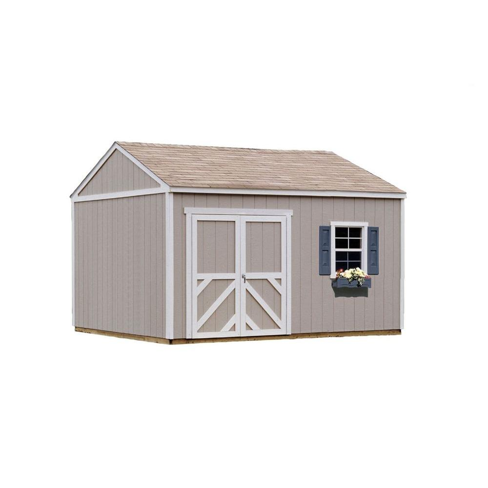 Handy Home Products Columbia 12 Ft X 12 Ft Wood Storage Building Kit 18215 0 The Home Depot Storage Building Kits Built In Storage Building A Shed