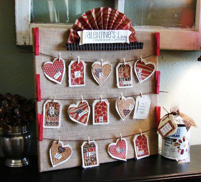 Valentine S Day Countdown Calendar Saint Valentin Diy Saint