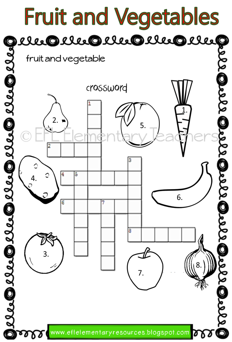 Esl Fruit And Vegetables Worksheets Teacher Favorite Things Fruits And Vegetables Language Teaching [ 1131 x 767 Pixel ]