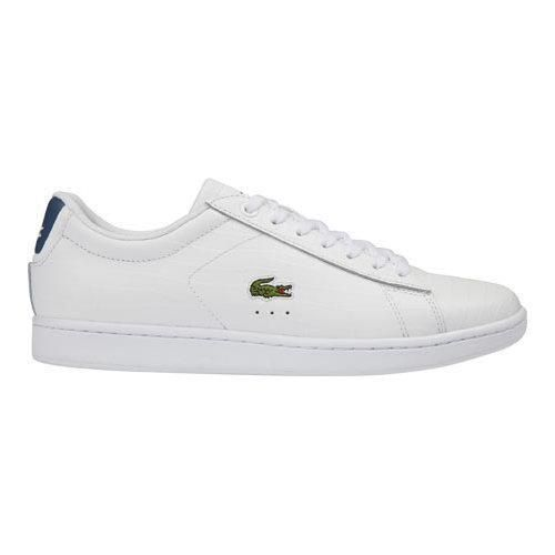 Lacoste Women's Carnaby EVO 8 Sneaker, Size: 10 M, White/Blue  Leather/Synthetic/Suede
