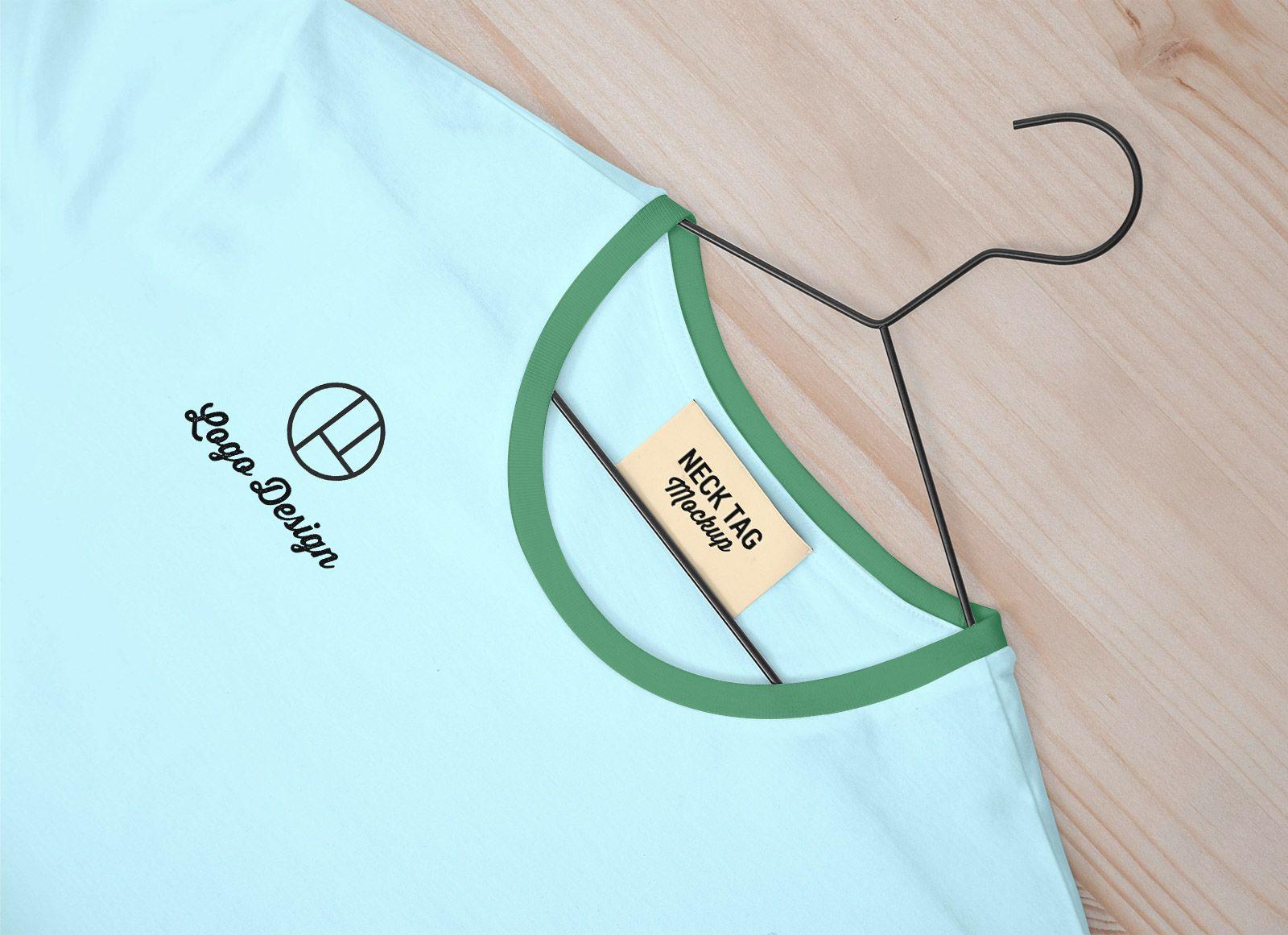 Download Free Neck Tag Label T Shirt Mockup Psd Shirt Mockup Tshirt Mockup Mockup Psd