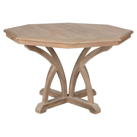 Octagon Wooden Dining Table, Small