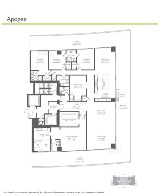 Apogee A 800 South Pointe Dr Miami Beach Fl Beach Floor Plans Floor Plans How To Plan