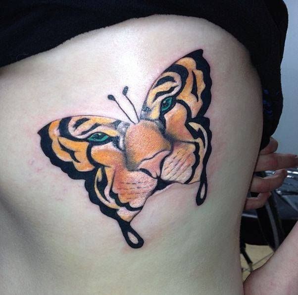 Tattoos Designs Pictures And Ideas Tiger Face Butterfly Tattoo Butterfly Tattoo Tiger Butterfly Tattoo Lion Tattoo