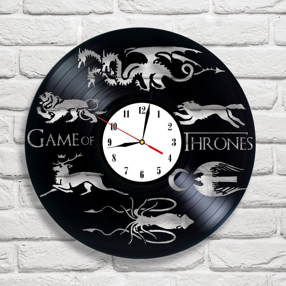 Details about game of thrones logo design vinyl record clock home