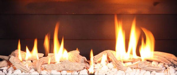 Driftwood On White Stones Fuel Bed for Escea gas fireplaces ...