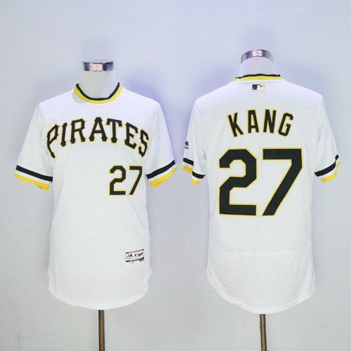 Men's Pittsburgh Pirates #27 Jung-ho Kang White Pullover 2016 Flexbase Majestic Baseball Jersey