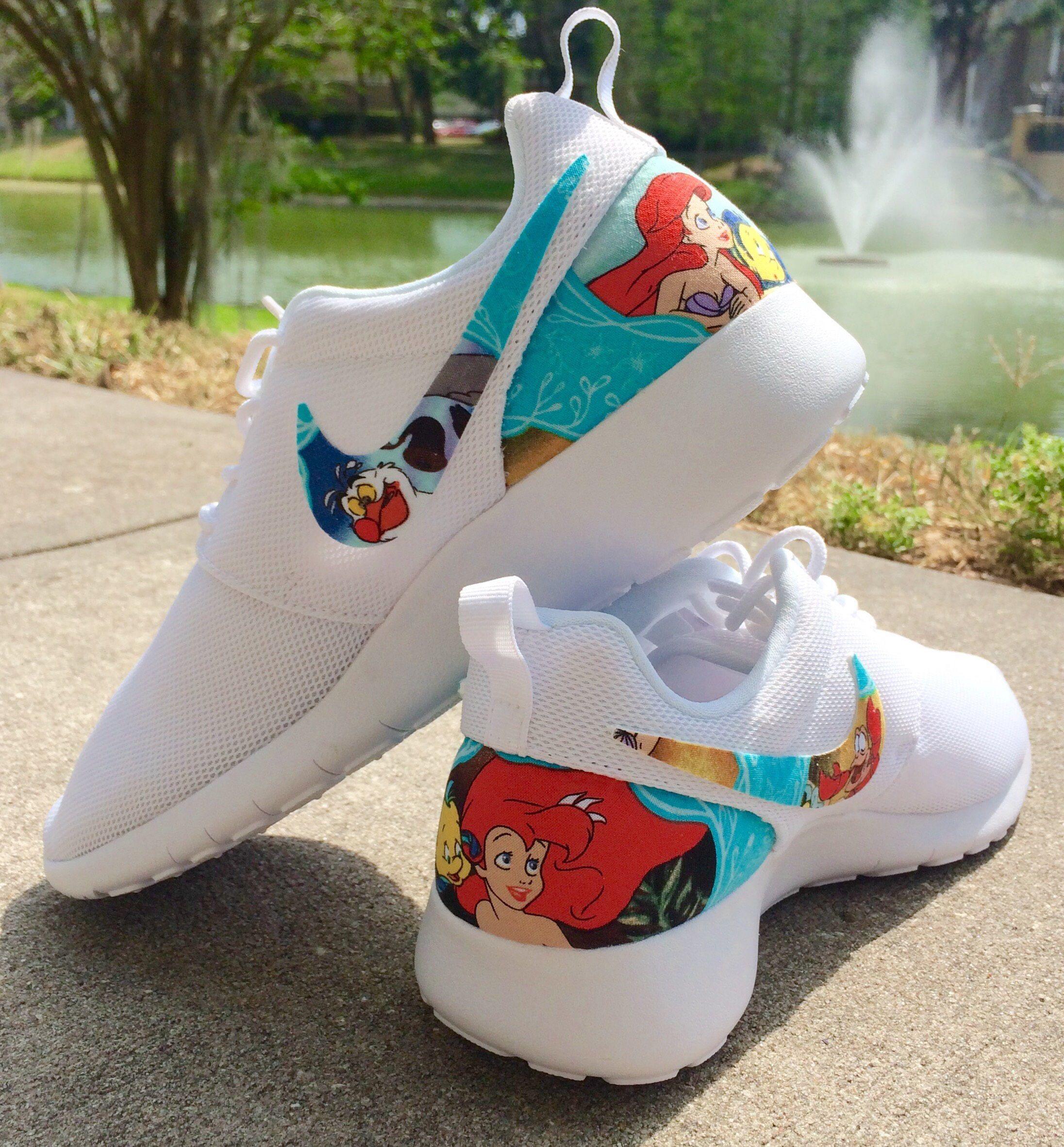 15c1dd8a44859 LIMITED The Little Mermaid Custom Nike Roshe by GrabbKicks on Etsy  https   www