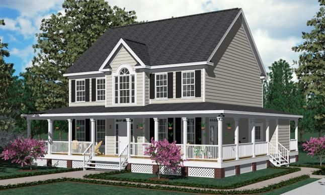 Love Wrap Around Porches This Porch Goes All The Way Around The