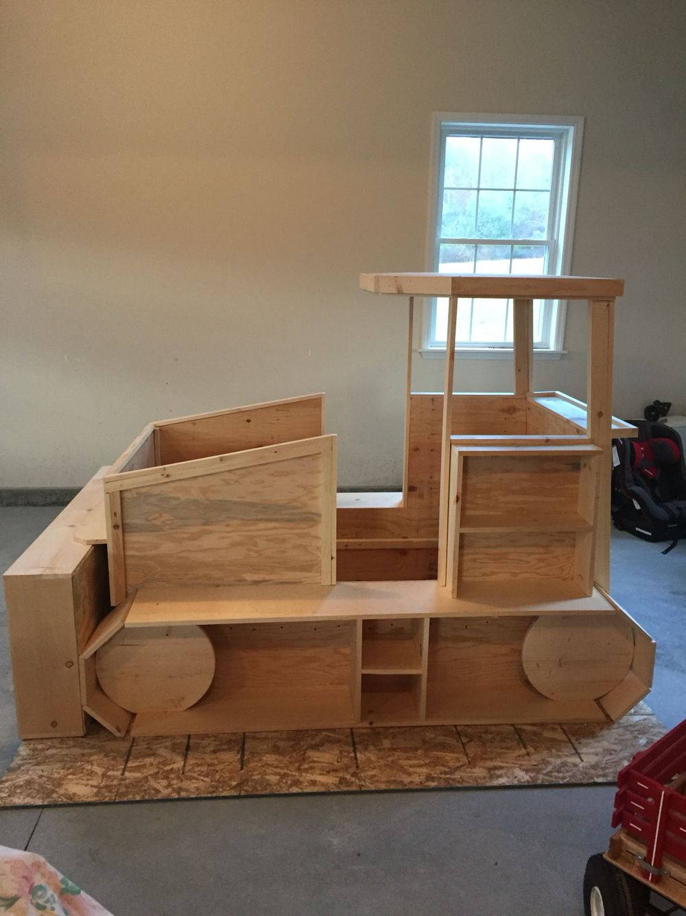 Bulldozer Bed Before Paint Diy Toddler Bed Boy Toddler Bedroom