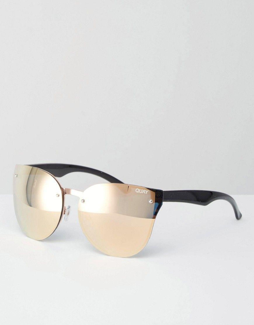 Quay Australia – Higher Love – Verspiegelte Katzenaugen-Sonnenbrille ...