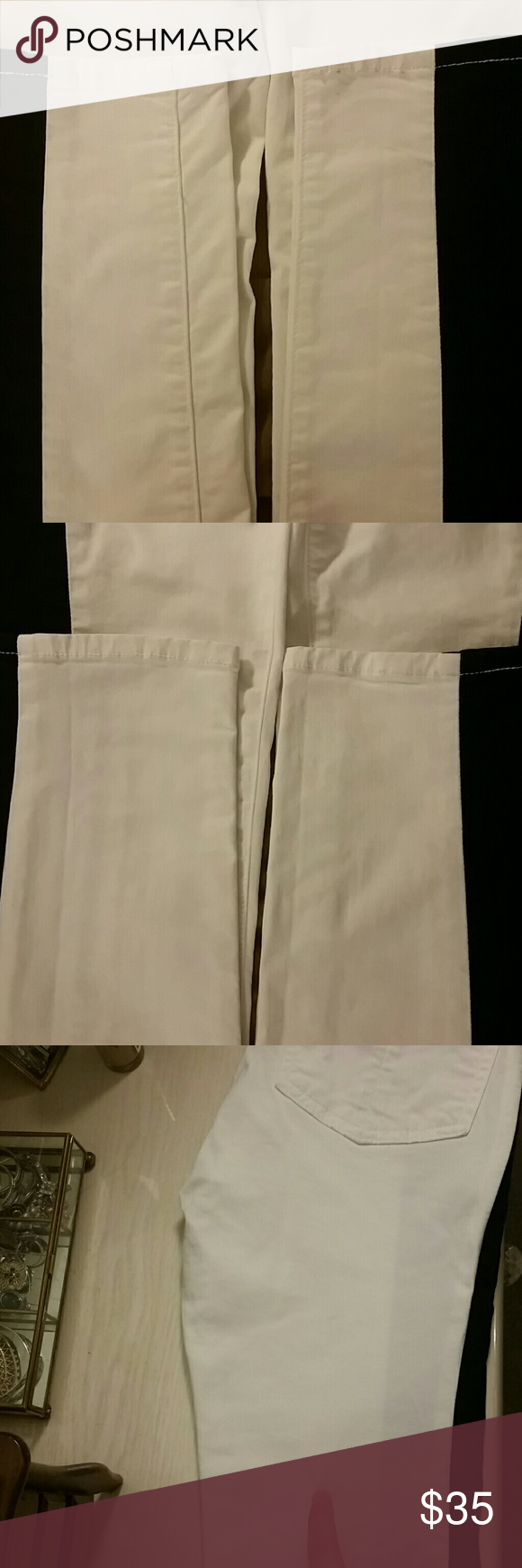 Rag & Bone Skinny Pant *Extra Pics* Extra pics of ankles front and back in picture 1&2. Slim to none ware.  I looked them over, very closely, and found a tiny faint spot (on the right back thigh) that I am pointing out in picture 3. So faint it was hard to capture in the picture.  -Other listing of the pant for sale in my closet rag & bone Jeans Skinny