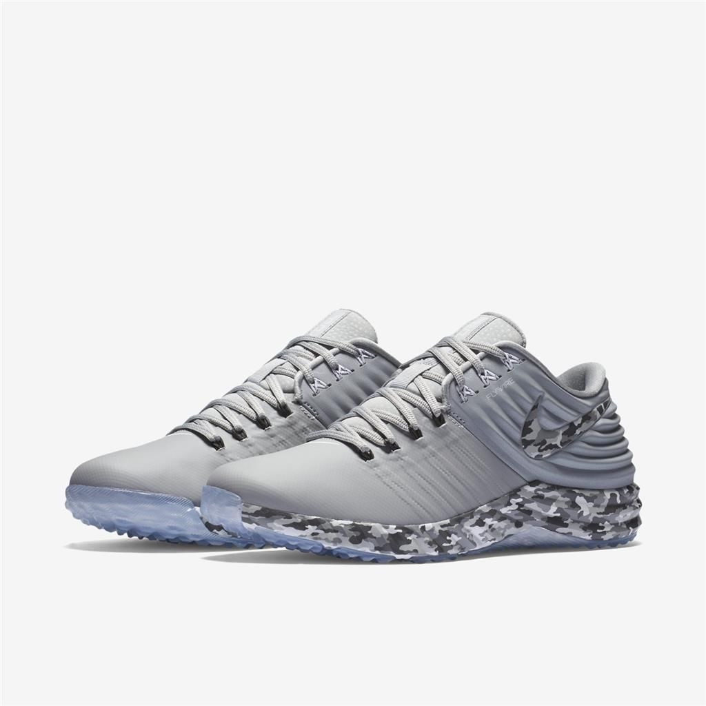 Nike Lunar Trout 2 Baseball Trainer Turf Shoes Cleats Various Sizes Gray /  Camo