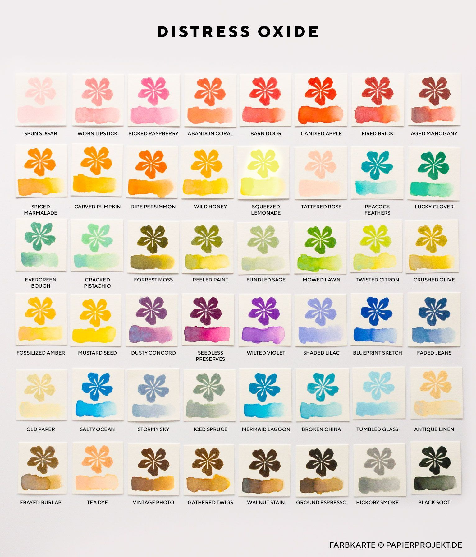Distress Oxide Ink Color Chart Google Search Distress Oxides Distress Ink Distress Oxide Ink
