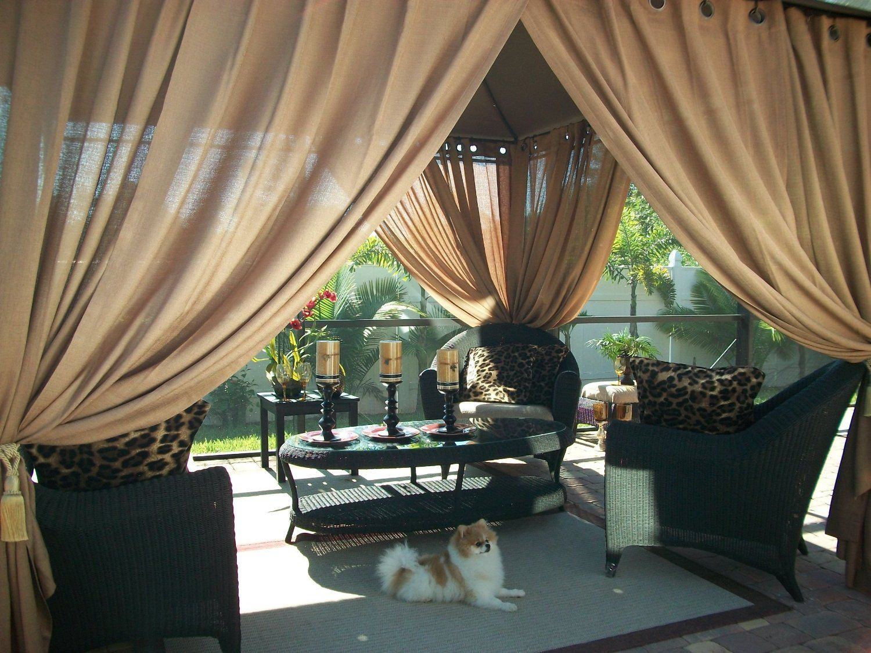 Gazebo curtains outdoor - Amazon Com Outdoor Gazebo Patio Drapes Toffee Sheer 84 Includes