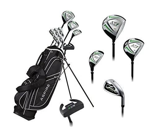 Men S Complete Golf Set Includes Titanium Driver Golfiya Golf Set Golf Tips Used Golf Clubs