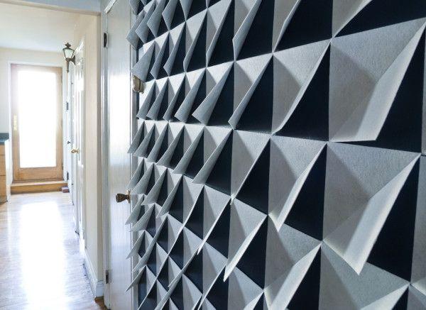 make it modern diy 3d felt wall panels art projects wall panel rh pinterest com