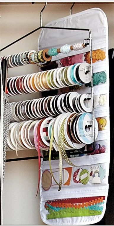 Ribbon Organizer For My Homemade Cards Craft Room Craft Room