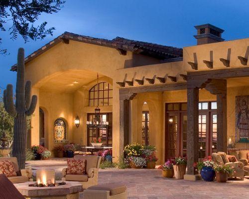 Exterior southwestern exterior ferhat pinterest for Southwestern style homes