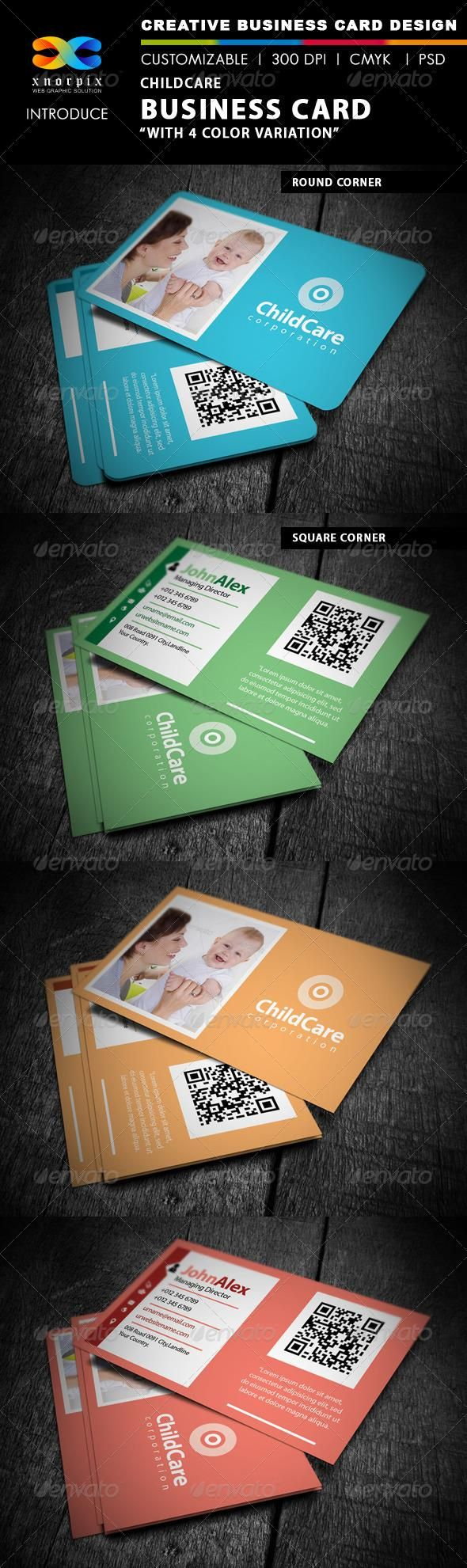 Childcare business card childcare business cards and business childcare business card magicingreecefo Image collections
